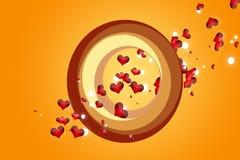 Corações de queda Foto de Stock