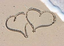 Corações de Sandy Imagem de Stock Royalty Free