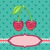 Corações de sorriso que olham como cherryes Fotos de Stock