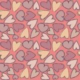 Corações de Texturate Imagens de Stock Royalty Free