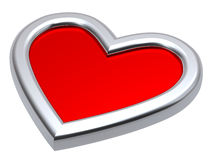 Corações de um rubi isolados no branco Imagem de Stock