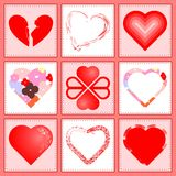Corações de Valentin Foto de Stock