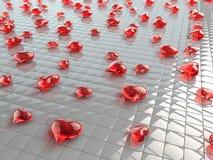 Corações de vidro Imagens de Stock