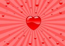 Corações de vidro Foto de Stock