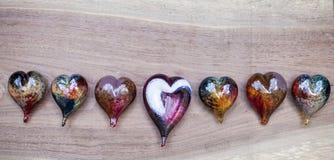 Corações de vidro Imagens de Stock Royalty Free