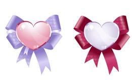 Corações decorativos Fotografia de Stock Royalty Free