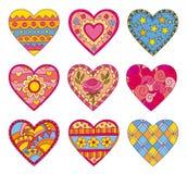 Corações decorativos do vetor ilustração stock