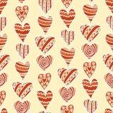 Corações desenhados mão Imagem de Stock