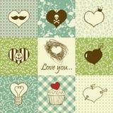 Corações desenhados mão Foto de Stock Royalty Free
