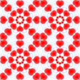 Corações Dia do `s do Valentim Teste padrão sem emenda Imagem de Stock Royalty Free