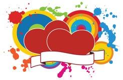 Corações do amor Imagem de Stock