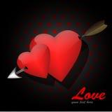 Corações do amor ilustração stock