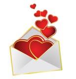 Corações do amor Ilustração Royalty Free