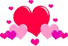 Corações do amor ilustração do vetor