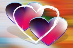 Corações do amor Imagens de Stock Royalty Free