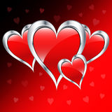 Corações do amor do dia do Valentim Imagem de Stock
