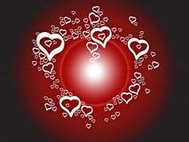 Corações do amor do fundo Imagens de Stock
