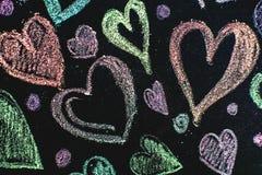 Corações do amor no fundo de madeira da textura Conceito do cartão do dia de Valentim Coração para o fundo do dia de Valentim Imagem de Stock Royalty Free