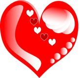 Corações do amor para o cartão do dia dos Valentim Imagens de Stock Royalty Free