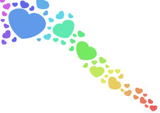 Corações do arco-íris Fotografia de Stock Royalty Free