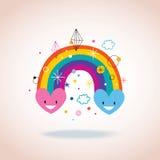 Corações do arco-íris Fotos de Stock Royalty Free