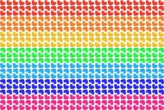 Corações do arco-íris Imagem de Stock Royalty Free