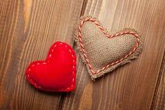 Corações do brinquedo do dia de Valentim Fotografia de Stock