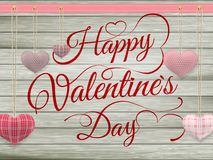 Corações do brinquedo do dia de Valentim que penduram na corda Eps 10 Foto de Stock Royalty Free