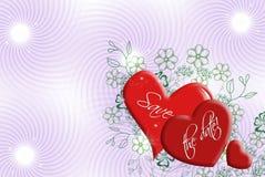 Corações do casamento ilustração royalty free