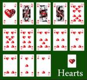 Corações do casino Fotografia de Stock