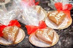Corações do chocolate Foto de Stock Royalty Free