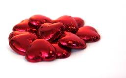 Corações do chocolate Imagens de Stock