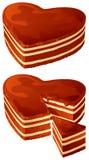 Corações do chocolate Imagens de Stock Royalty Free