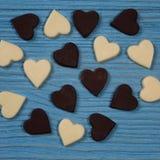 Corações do chocolate Imagem de Stock Royalty Free