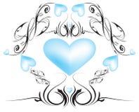 Corações do desdobramento Foto de Stock Royalty Free