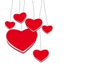 Corações do dia de Valentim Fotos de Stock