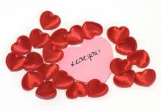 Corações do dia de Valentim Imagens de Stock
