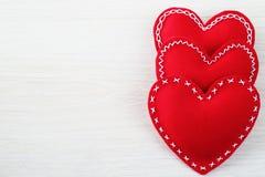 Corações do dia do Valentim Fotografia de Stock