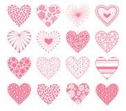 Corações do dia dos Valentim ajustados Imagem de Stock Royalty Free