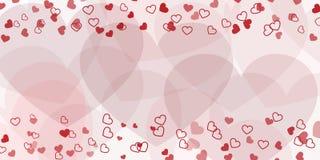 Corações do fundo do dia de Valentim Imagens de Stock Royalty Free