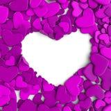 Corações do grupo no fundo branco Fotografia de Stock Royalty Free