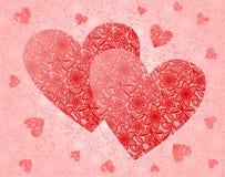 Corações do laço ilustração do vetor