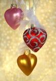 Corações do Natal Fotografia de Stock Royalty Free