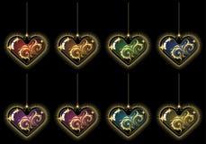 Corações do Natal Imagens de Stock
