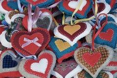 Corações do Natal Fotografia de Stock