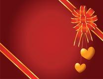 Corações do ouro Imagens de Stock