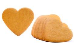 Corações do pão-de-espécie Fotografia de Stock Royalty Free