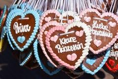 Corações do pão-de-espécie Imagem de Stock Royalty Free