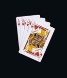 Corações do pôquer de cartões de jogo de J Q K A Fotografia de Stock
