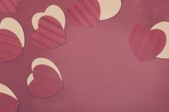 Corações do papel do dia do ` s do Valentim do St Imagem de Stock
